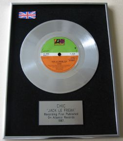 CHIC - JACK LE FREAK PLATINUM Single Presentation DISC